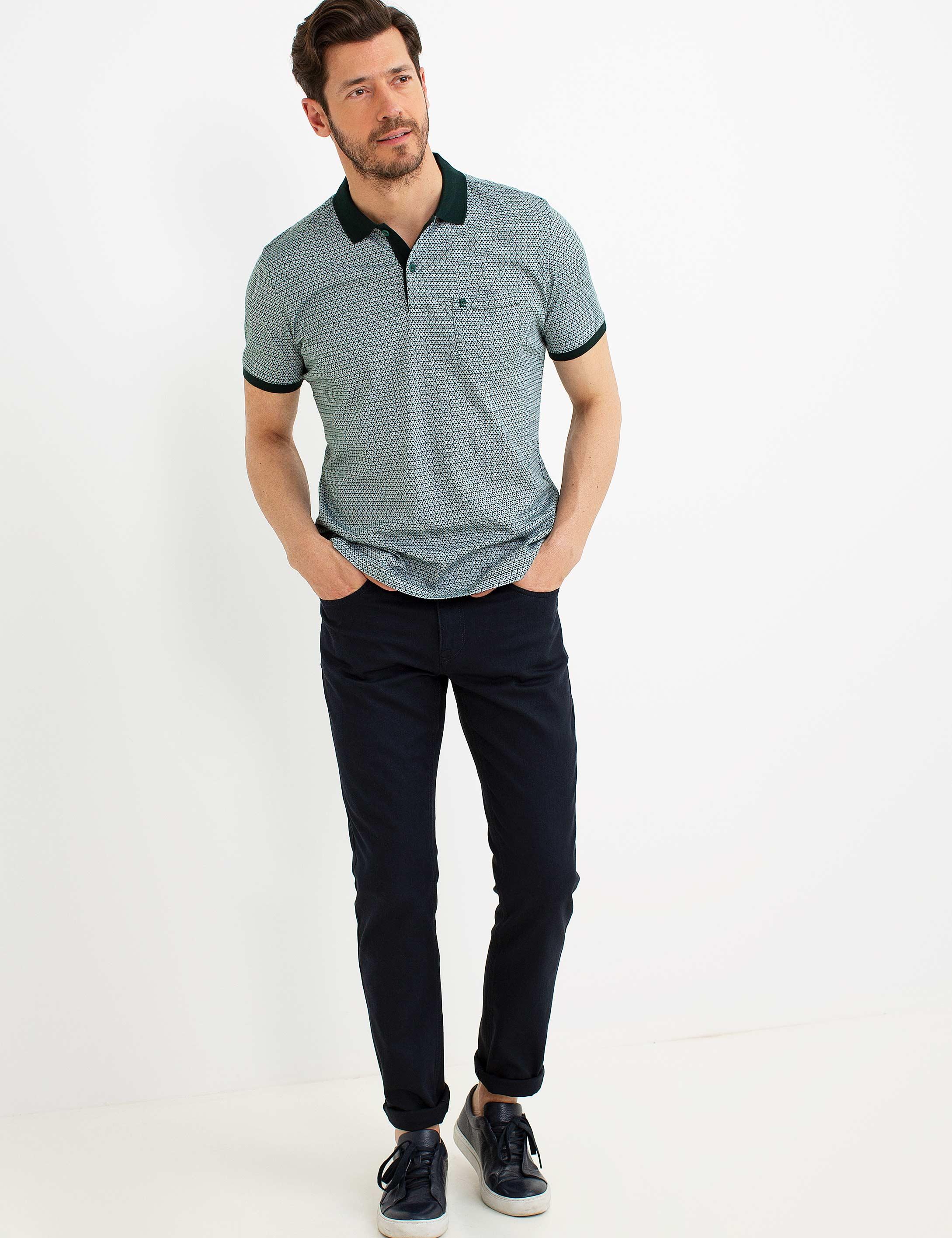 Yeşil Regular Fit Polo Yaka T-Shirt